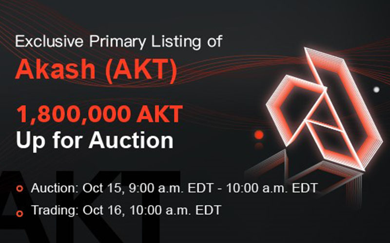 BitMax.io Announces the Primary Listing & Auction of Akash Token (AKT) in Support of the Thriving Cloud Computing Industry