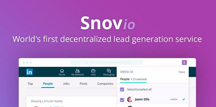 Snovio: First Decentralized Lead Generation Service