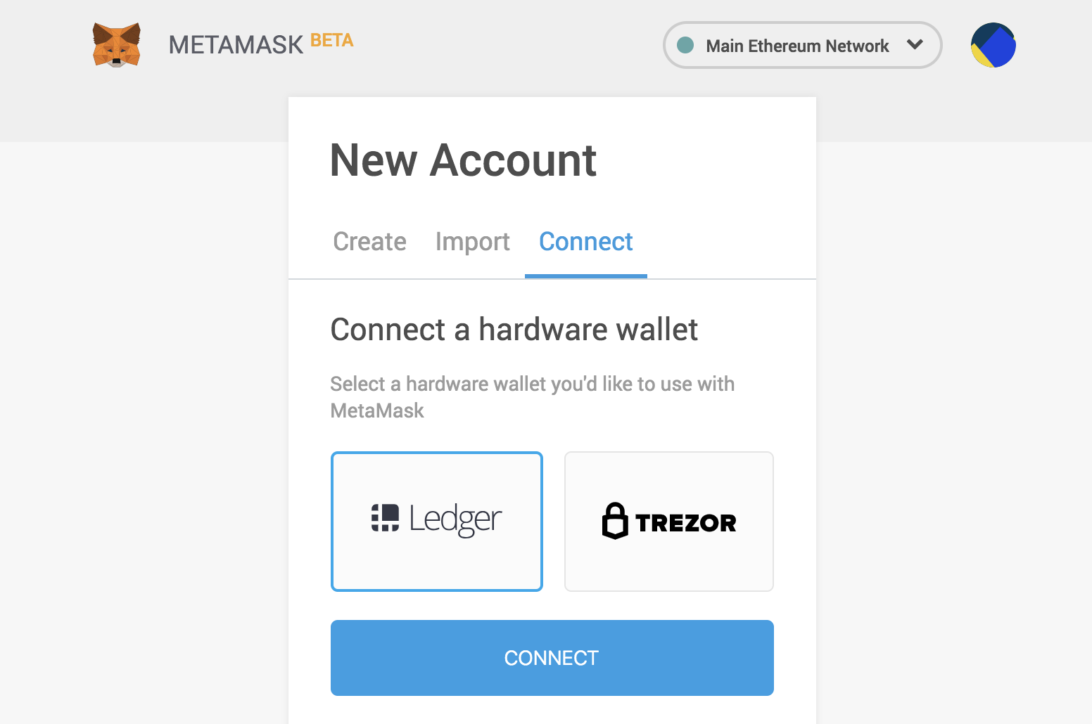 MetaMask now supports Ledger Hardware Wallets